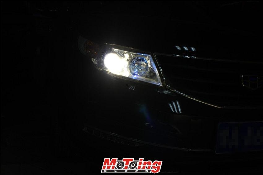 吉利15款远景车灯改装案例