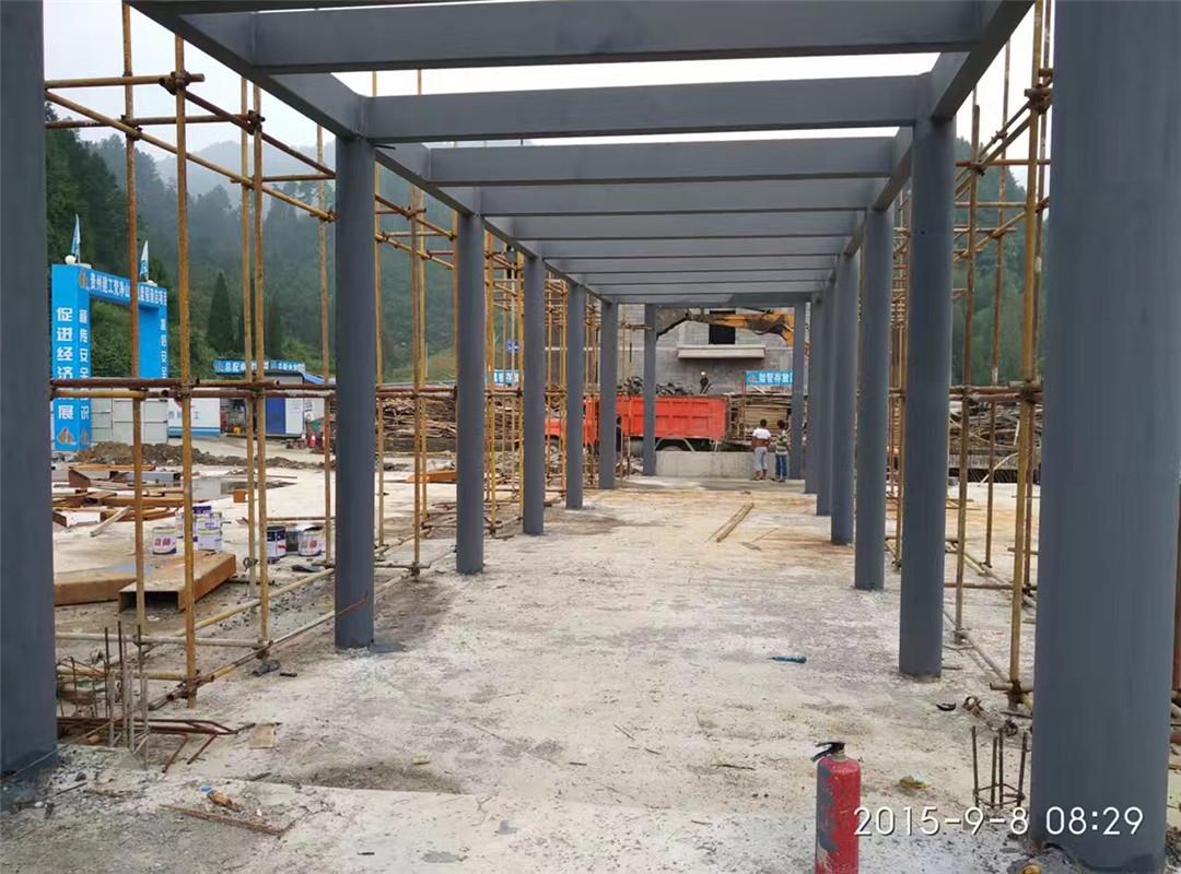 钢结构酒店廊架