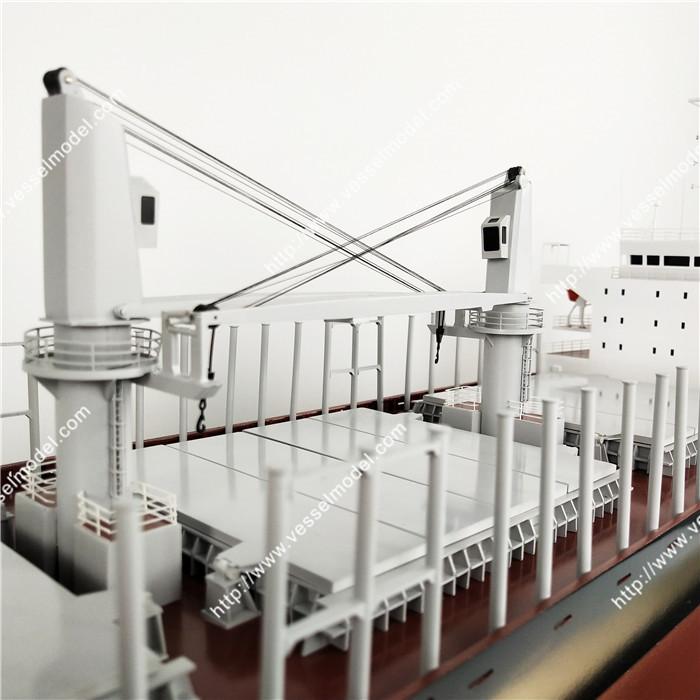 X船舶模型制作_120cm散貨船船模制作_海藝坊船模型工廠