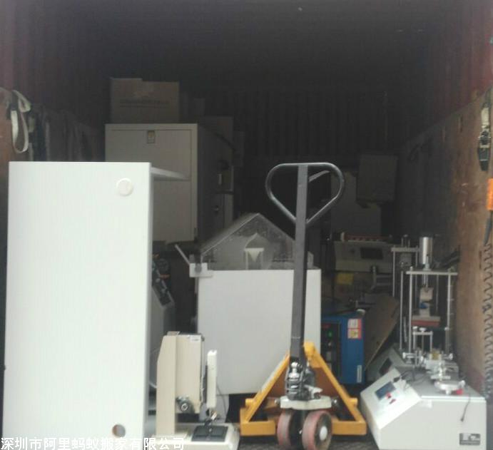 科技园小型机器搬迁现场实拍