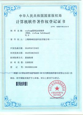 visTeam EDM著作权证书