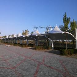 汽车车棚 内蒙古.和林格尔工业园.云谷基地2