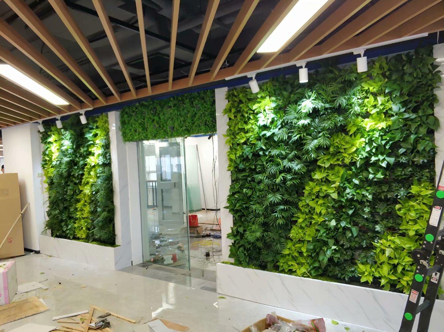 广西防城港植物墙,防城港仿真植物墙,防城港永生苔藓