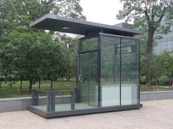 玻璃岗亭案例展示